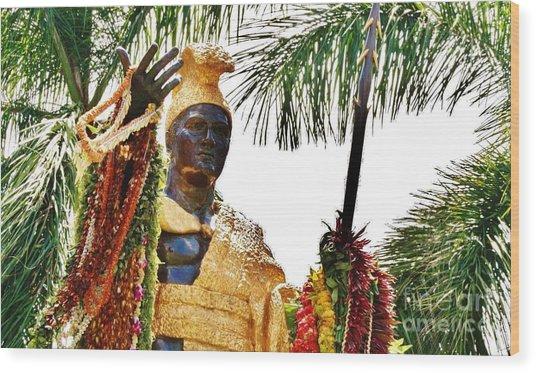 King Kamehameha The Great Wood Print by Craig Wood