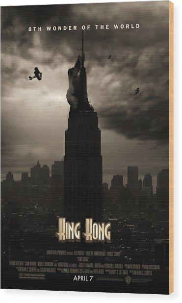 King Kong Custom Poster Wood Print