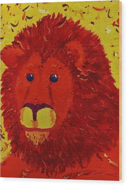 King Of Beasts Wood Print