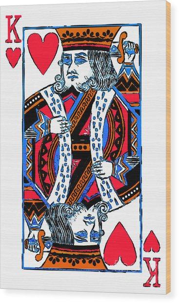 King Of Hearts 20140301 Wood Print