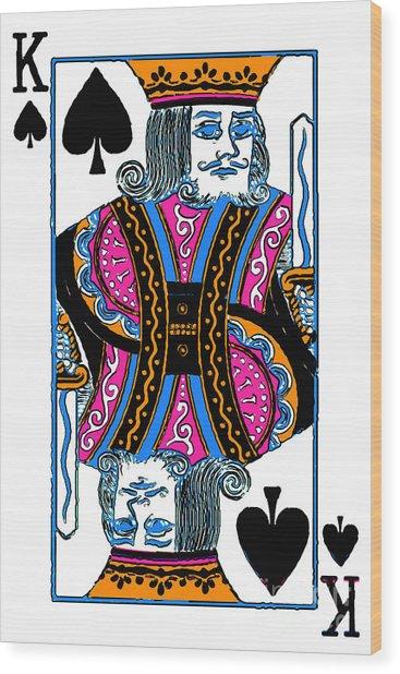 King Of Spades - V3 Wood Print