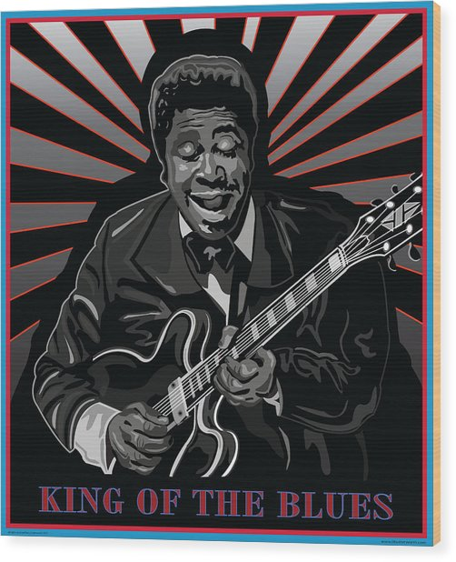 King Of The Blues Wood Print by Larry Butterworth