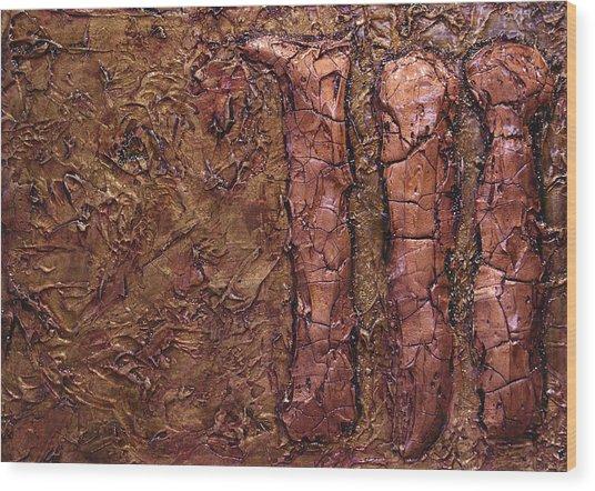 Kingly Three Wood Print