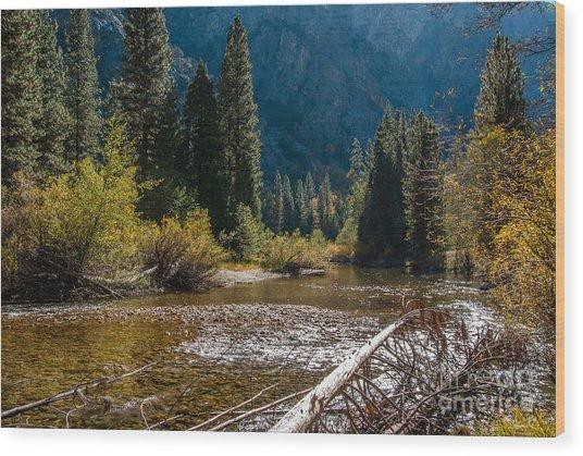 Kings River 1-7810 Wood Print by Stephen Parker
