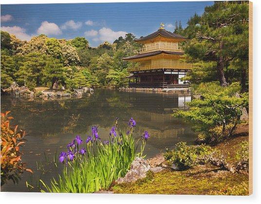 Kinkaku-ji Wood Print