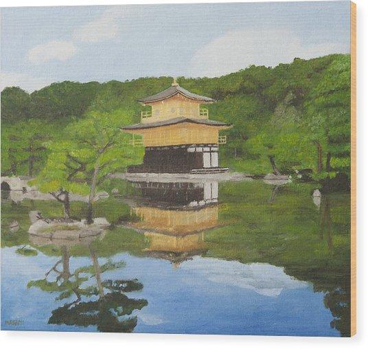 Kinkaku Ji Wood Print