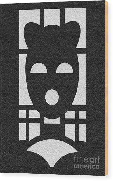 Kinky Time Mask Wood Print