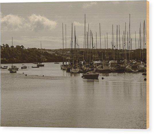 Kinsale Harbor At Dusk Wood Print