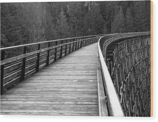 Kinsol Trestle Boardwalk  Wood Print