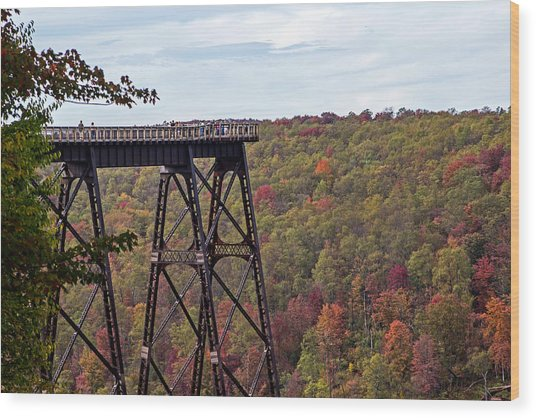 Kinzua Bridge Wood Print