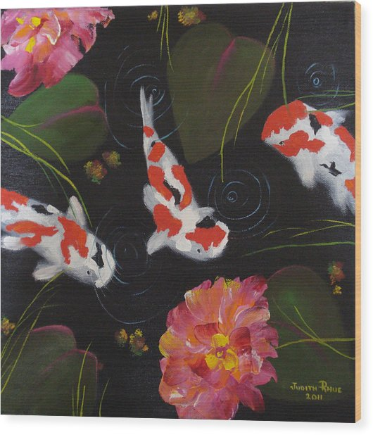 Kippycash Koi Wood Print