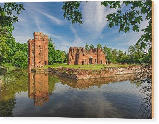 Kirby Muxloe Castle Wood Print by David Ross