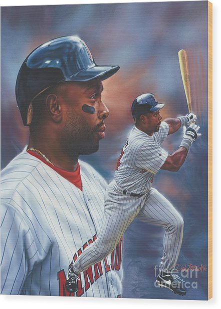 Kirby Puckett Minnesota Twins Wood Print