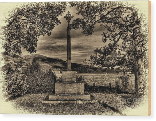 Kirknewton War Memorial Northumberland Wood Print