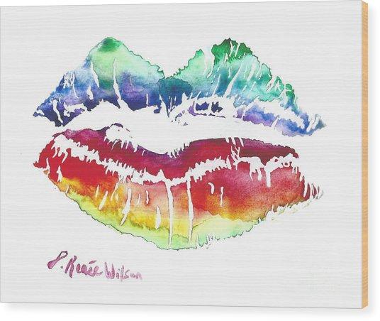Kiss Of Color Wood Print