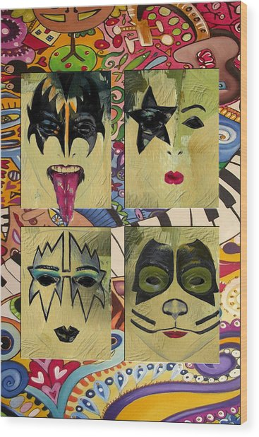 Kiss The Band Wood Print