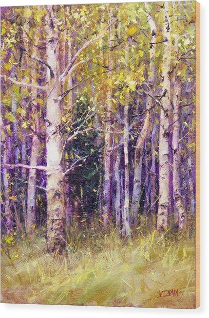 Kissing Tree Wood Print by Bill Inman