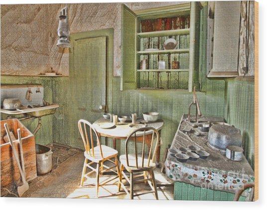 Kitchen In Bodie By Diana Sainz Wood Print