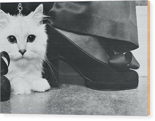 Kitten By Charles Jourdan Pumps Wood Print