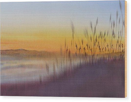 Kitty Hawk Daybreak - A Restatement Wood Print