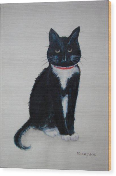 Kitty - Painting Wood Print
