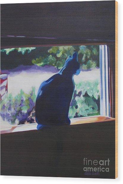 Kittycat Wood Print