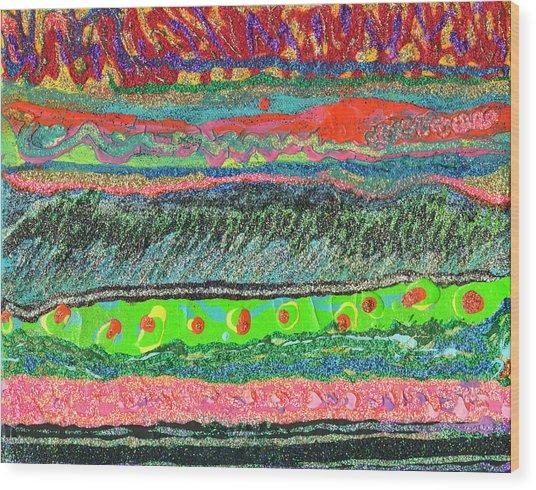 Kitzie's River Wood Print