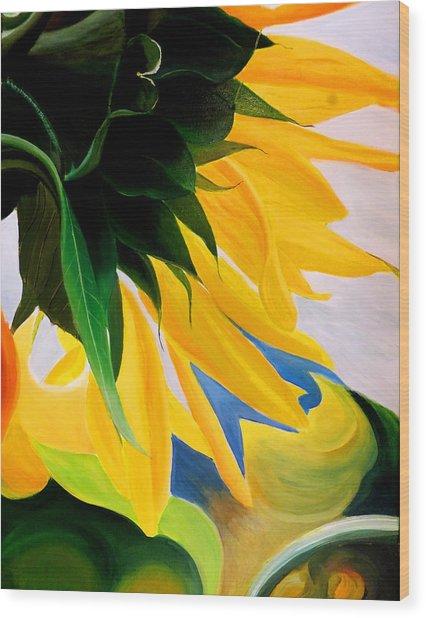 Kk's Sunflower Wood Print
