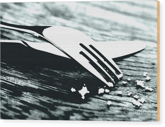 Knife And Fork Wood Print by Blink Images