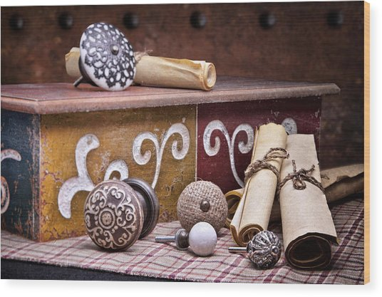 Knobs And Such Still Life Wood Print