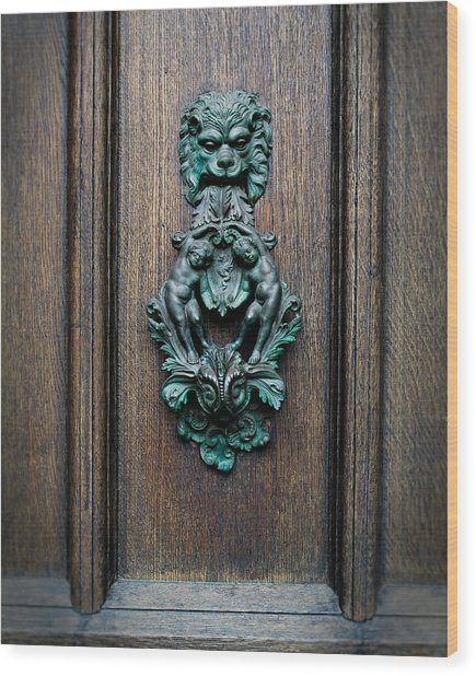 Knocker Wood Print