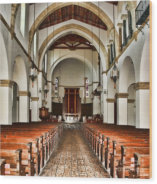 Knowles Memorial Chapel Rollins College 2 By Diana Sainz Wood Print