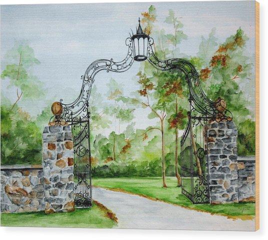 Knox Estate Wood Print