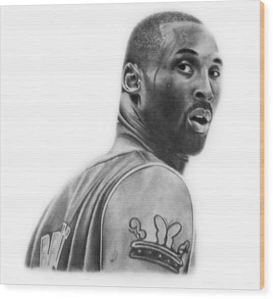 Kobe Bryant Wood Print by Don Medina