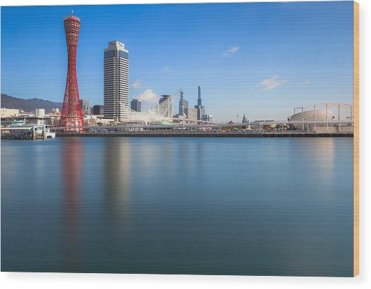 Kobe Port Island Tower Wood Print