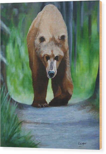 Kodiak Wood Print