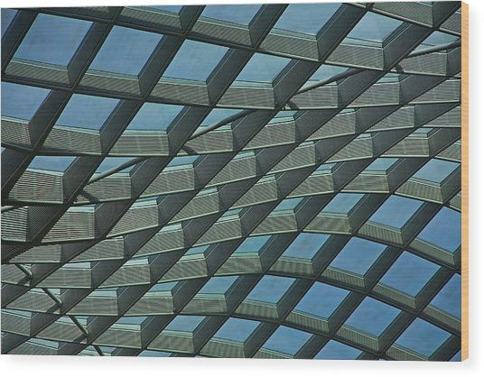 Kogod Courtyard Ceiling #6 Wood Print