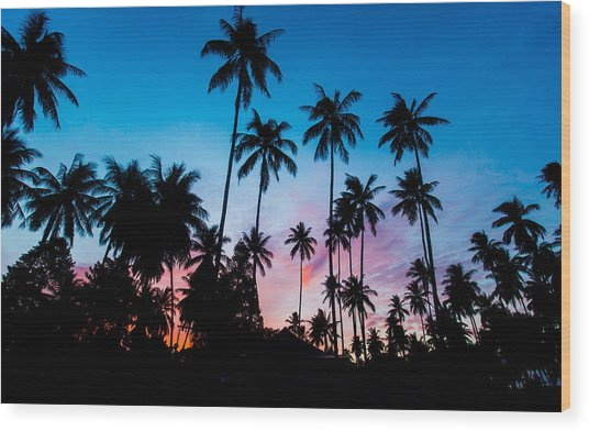 Koh Samui Sunrise Wood Print