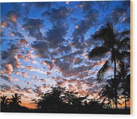 Kona Sunset Wood Print