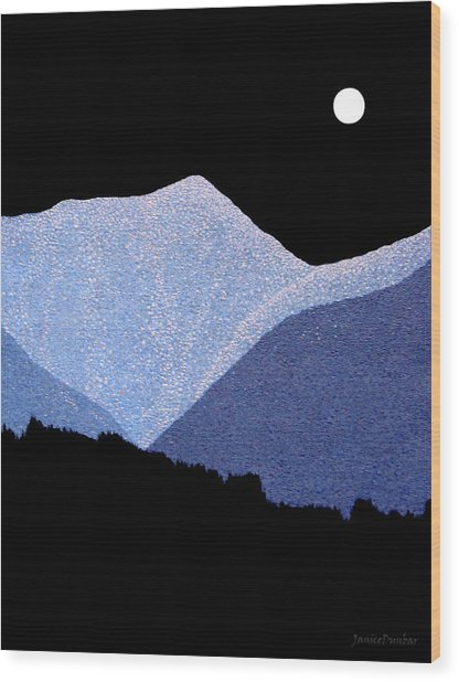 Kootenay Mountains Wood Print