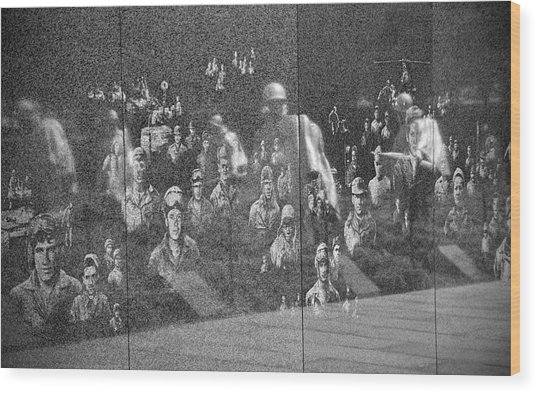 Korean War Veterans Memorial Wood Print