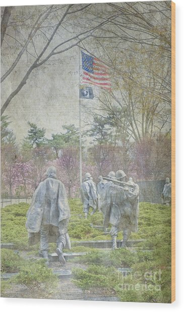 Korean War Veterans Memorial Washington Dc Beautiful Unique   Wood Print