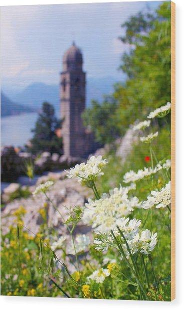 Kotor Wildflowers Wood Print by Saya Studios
