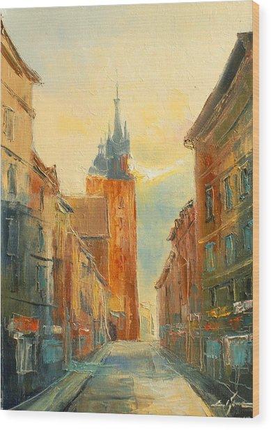 Krakow Florianska Street Wood Print