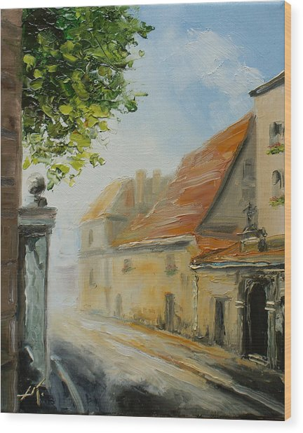 Krakow- Reformacka Street Wood Print