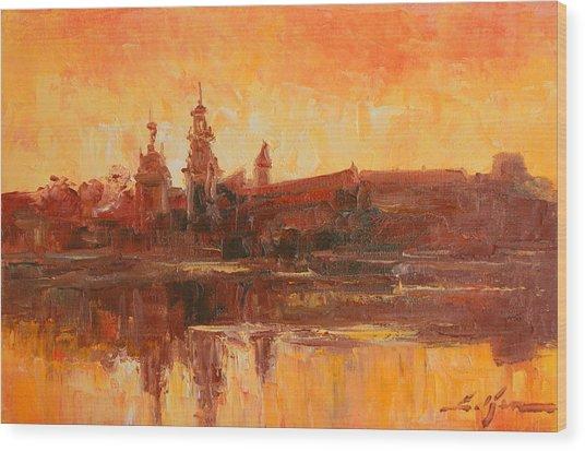 Krakow - Wawel Impression Wood Print