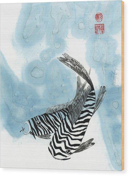 Krazy Koi Wood Print