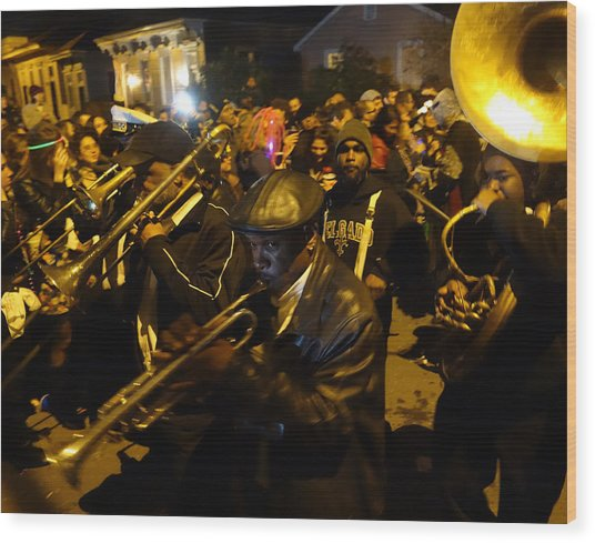 Krewe Du Vieux Parade In New Orleans Wood Print