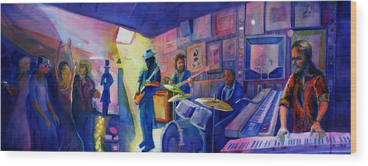 Kris Lager Band At Sanchos Broken Arrow Wood Print