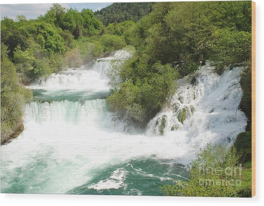 Krka Waterfalls Croatia Wood Print
